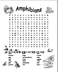 Amphibian Word Search