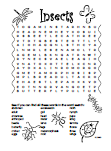 Insects Word Search