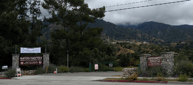entrance - view from Altadena Drive